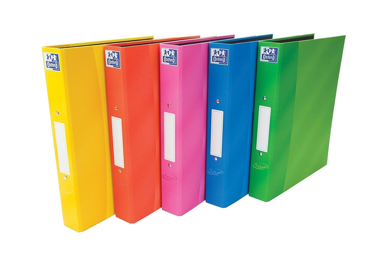 Oxford Touch + 25 mm capacidad carpeta de anillas, A4, colores surtidos, paquete de 10: Amazon.es: Oficina y papelería