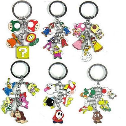 Super Mario Bros Llaveros 6 piezas/Direct Hardware Boo Bob ...
