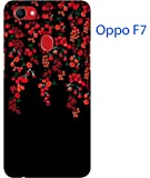 Blutec Red Flowers Design 3D Printed Hard Back Case Cover for Oppo F7 bl8084-13733