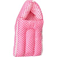 Orange and Orchid 3 In 1 Baby Cotton Bed Cum Sleeping Bag (60 x 45 x 15 CM)(0-6 Months_Pink)