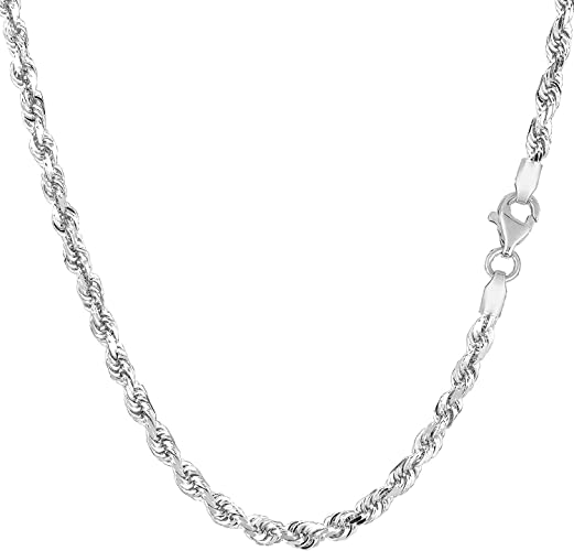 """Men Ladies Real 10k Yellow Gold Necklace Hallow Rope Chain 2mm 20/"""" inch Hollow"""