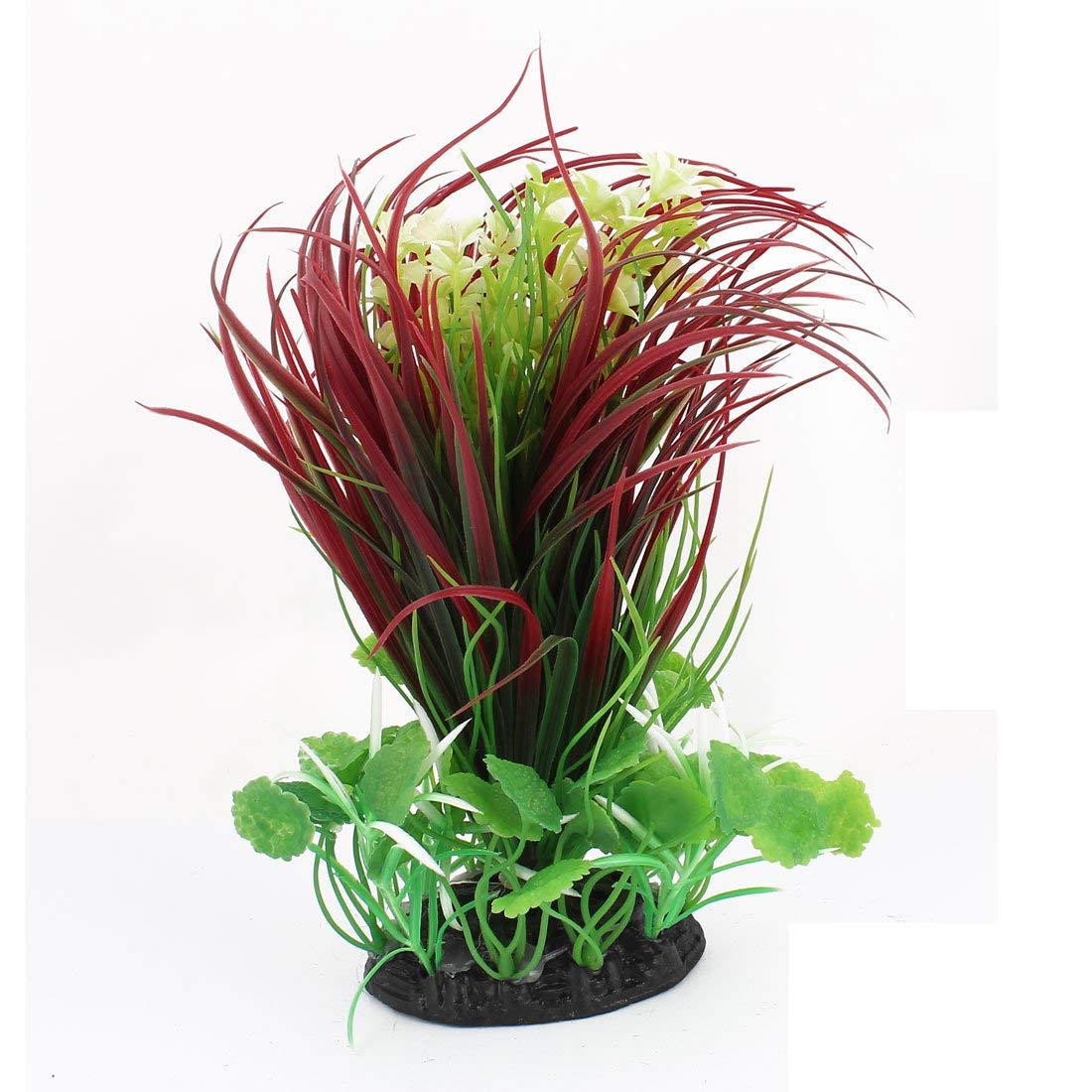 5 Pcs 5.9  Height Plastic Green Water Plants Ornament for Aquarium
