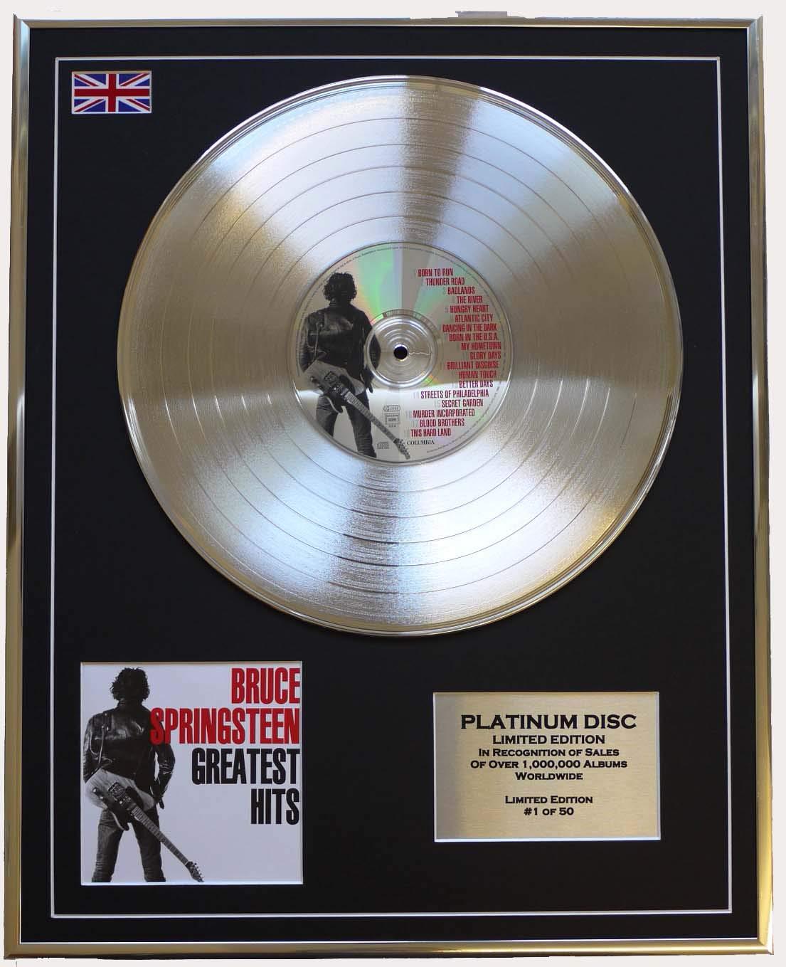 BRUCE SPRINGSTEEN  Limitierte Edition Platin Schallplatte GREATEST HITS