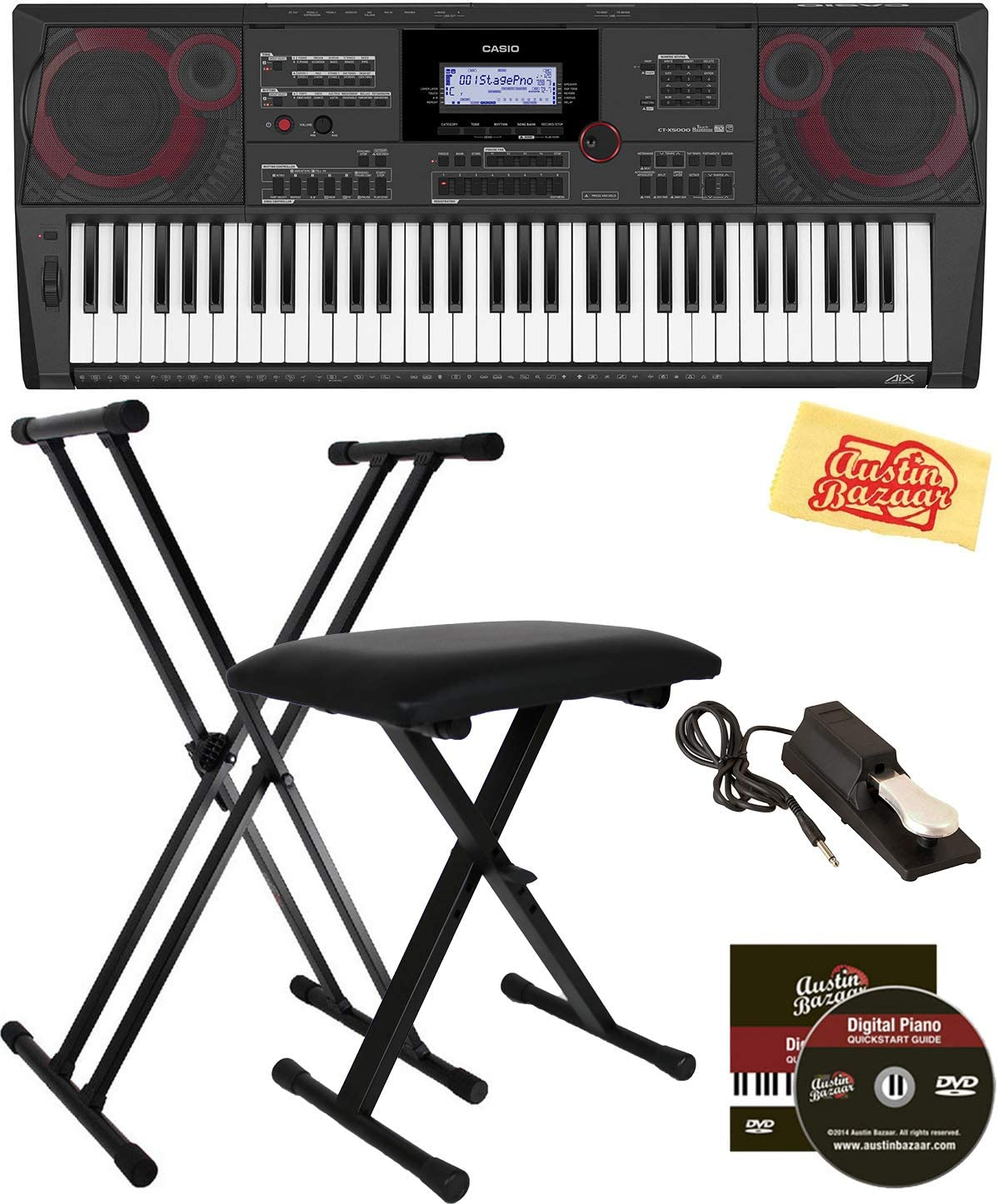 Casio CT-X5000 Keyboard Bundle