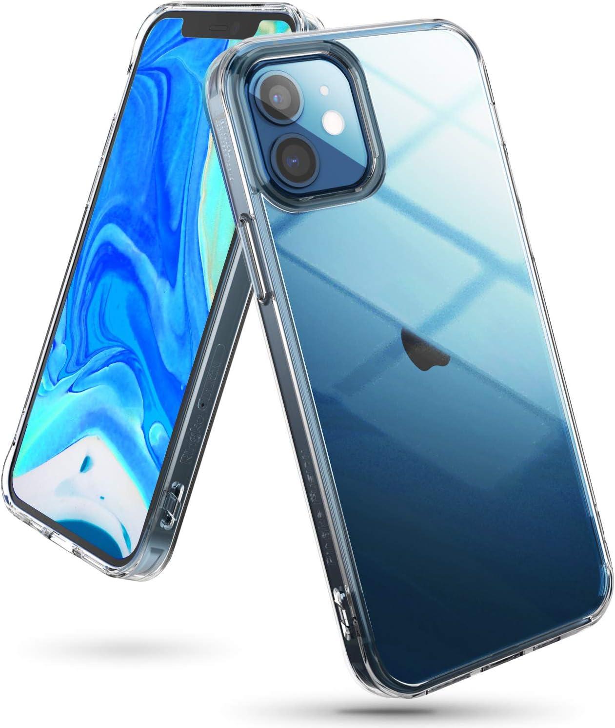 Ringke Funda Fusion Compatible con iPhone 12 y Compatible con iPhone 12 Pro (6,1 Pulgadas), Transparente Fina Slim Carcasa Parachoque TPU - Clear
