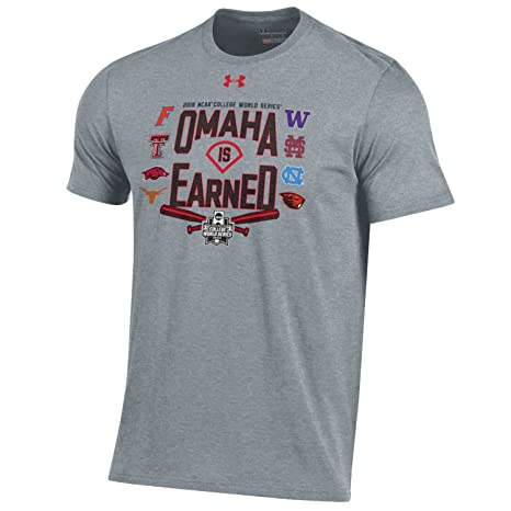 7e08f3db Under Armour 2018 NCAA College World Series CWS Omaha is Earned T-Shirt (M