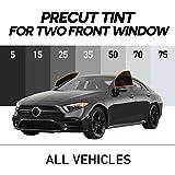 MotoShield Pro - Premium Precut Ceramic Window Tint for All Vehicles [99% Infrared Heat Reduction/Blocks 99% UV] 2mil - 2 Front Windows
