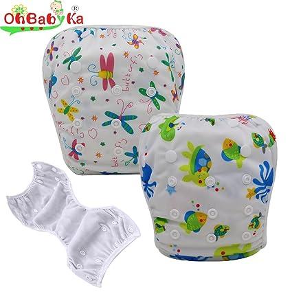 ohbabyka bebé lavable gamuza natación pañales pantalones de cubierta de la piscina, un tamaño,