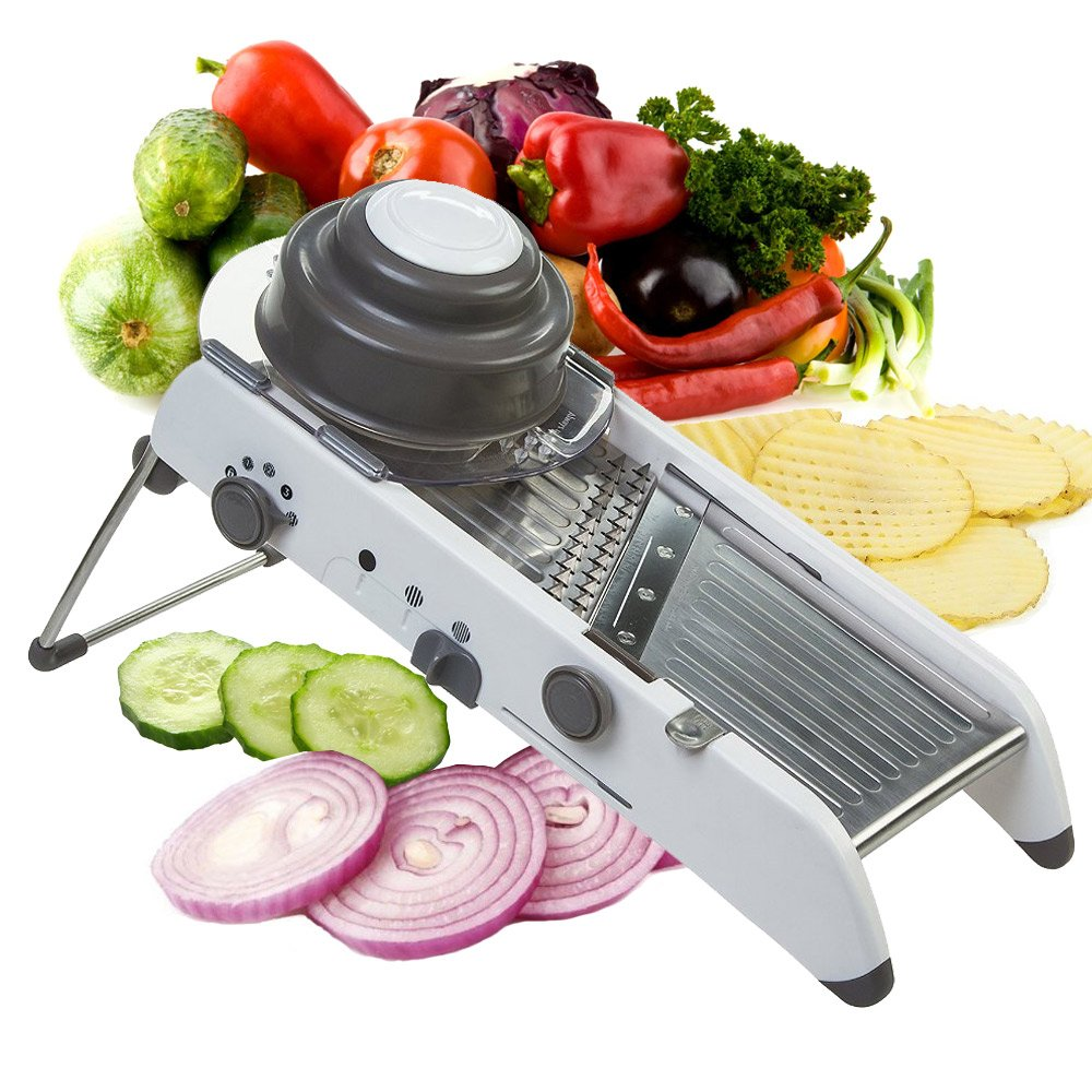 Mandoline Slicer Manual Stainless Steel Blade Adjustable Vegetable Onion Potato Slicer Food Kitchen Tools by Vinipiak by Vinipiak