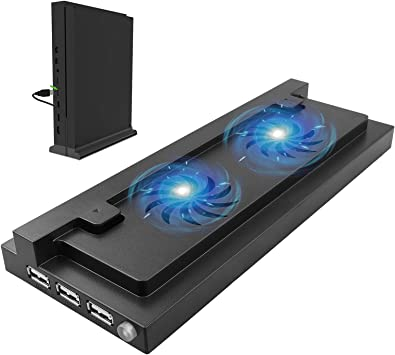EEEKit USB Dual Cooling Fan Cooler Soporte Vertical Puerto USB ...