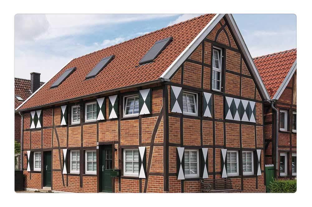 Indoor Floor Rug/Mat (23.6 x 15.7 Inch) - Truss Bricks Modernized Renovated Gable