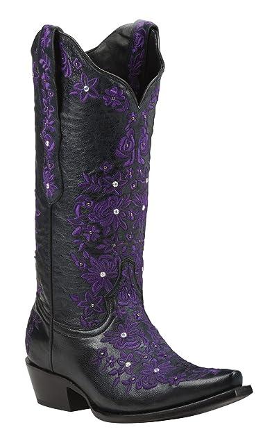 42ed2df8d54 Black Star SWEETGRASS (Black/Purple) Women's Cowboy Boots