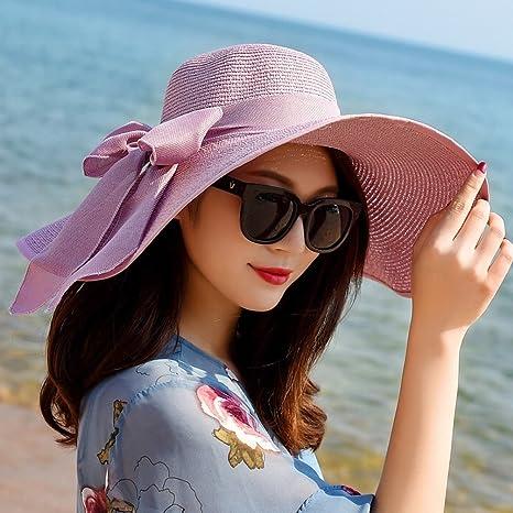 WCZ Sombrero Mujer Verano Marea Salvaje Playa Bronceador Salida del Sol  Salida del Sol Sol Playa 674baaa6d88a