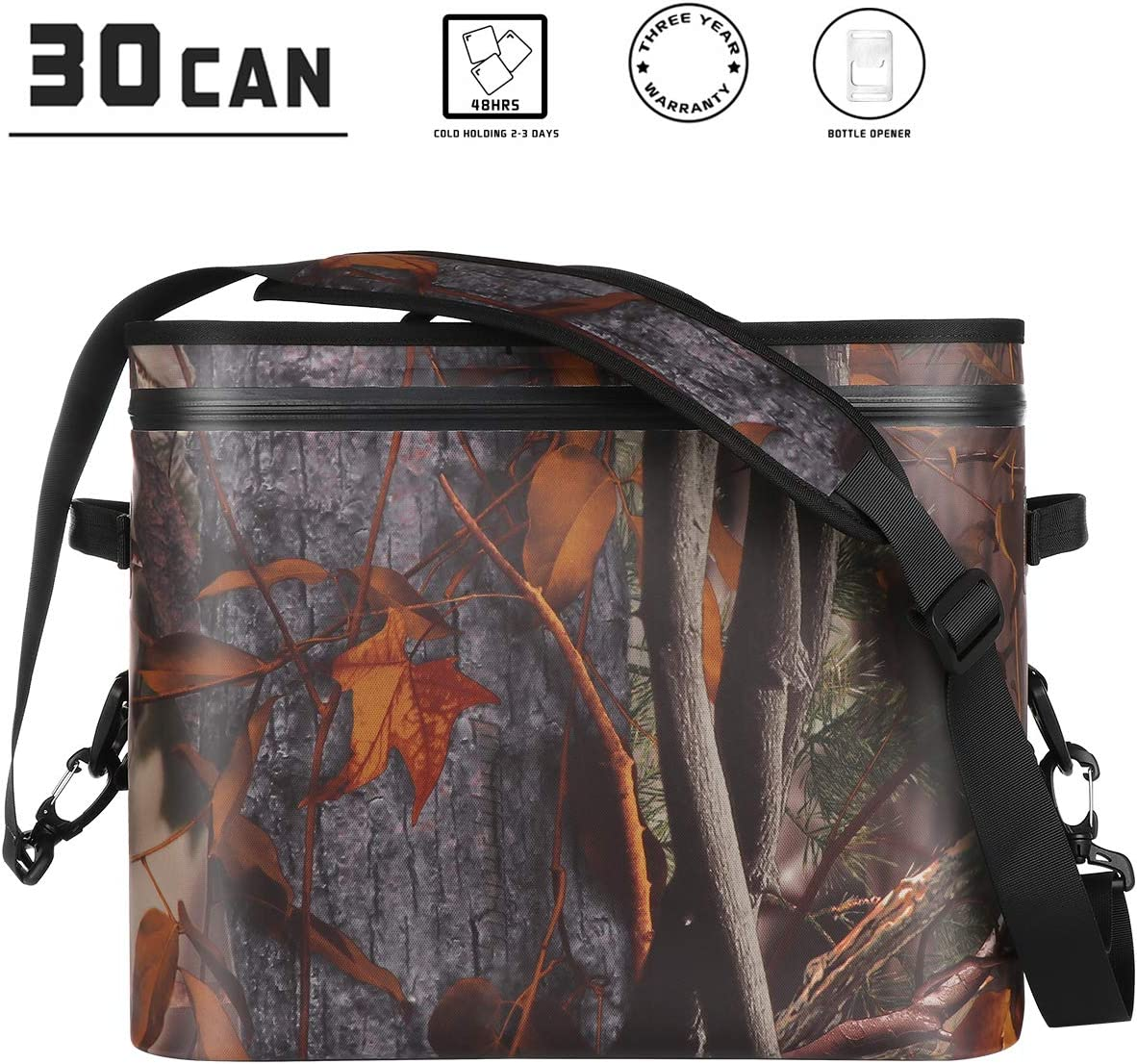 Picnic Fishing Party Soft Cooler Bag Tote Portable Large Beach Cooler 20L Insulated Leak /& Waterproof High Ice Retention Pack Cooler for Car Sports Camping Hiking Floating Camouflage