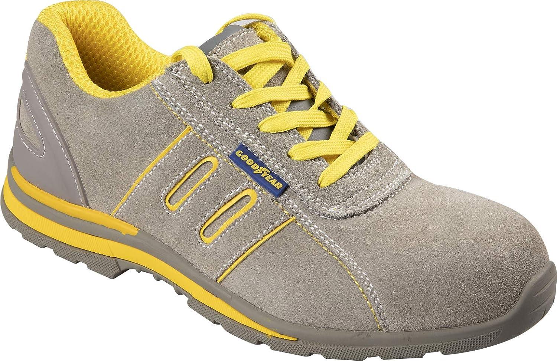 Goodyear Zapatos de Seguridad de Metal sin Piel de Ante TG.44 Beige