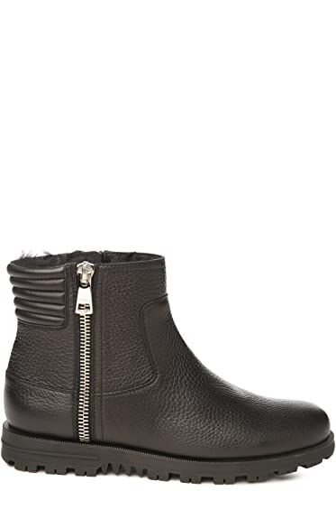 Gucci Women s 388027A0dk01000 Black Leather Ankle Boots  Amazon.co ... 61107cf038