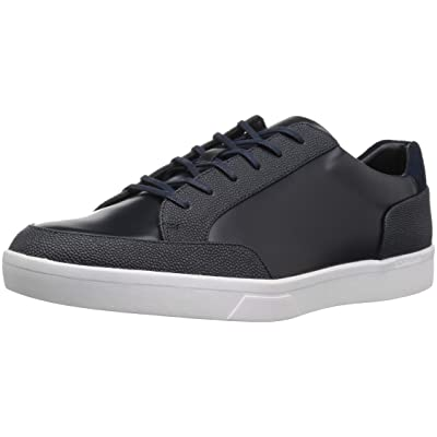 Calvin Klein Men's Izar Scotch Grain/Box Leather Sneaker   Fashion Sneakers