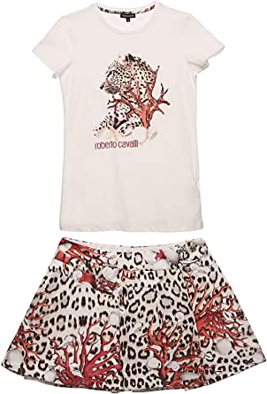 Roberto Cavalli Junior Round Neck Two Pieces Wear For Girls