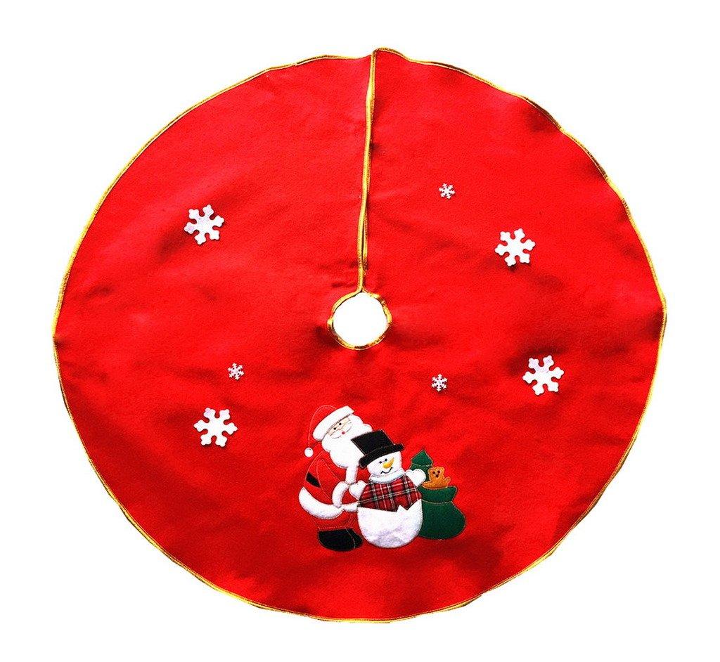 COMVIP Santa Claus Snowman Christmas Tree Skirt Apron Xmas Party Decoration
