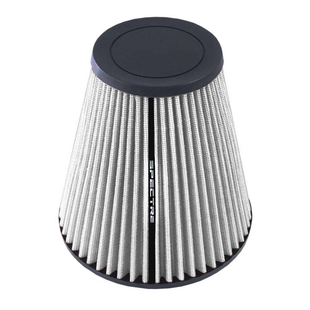 Base; 3.5 in Height; 6.5 in Top SPE-HPR9610W 89 mm 226 mm Spectre Performance HPR9610W Universal Clamp-On Air Filter: Round Tapered; 3 in 165 mm 76 mm Flange ID; 8.906 in