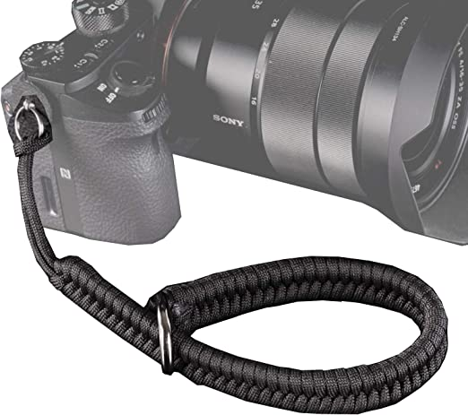 All Weather Shoulder Camera Strap Blue Lightning Premium Paracord DSLR Cobra Digital Camera Neck Safety Strap With Choice of Length