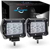 MICTUNING CREE Led Light Bar, 2PCS 4Inch 18W Flood Led Pods 1260lm Off Road Driving Fog Lights For Jeep Rzr ATV UTV SUV Truck Boat Motorcycle (2 Pcs)