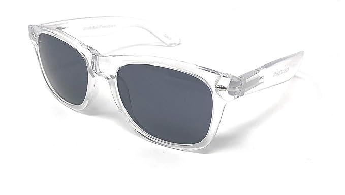 45ac5c5fb1d Adults Classic Shape Clear Frame Black Lenses Style Sunglasses Unisex Clear  Frames Colouful Lenses Retro Stylish