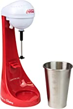 Nostalgia Two-Speed Electric Coca-Cola Limited Edition Milkshake Maker and Drink Mixer,