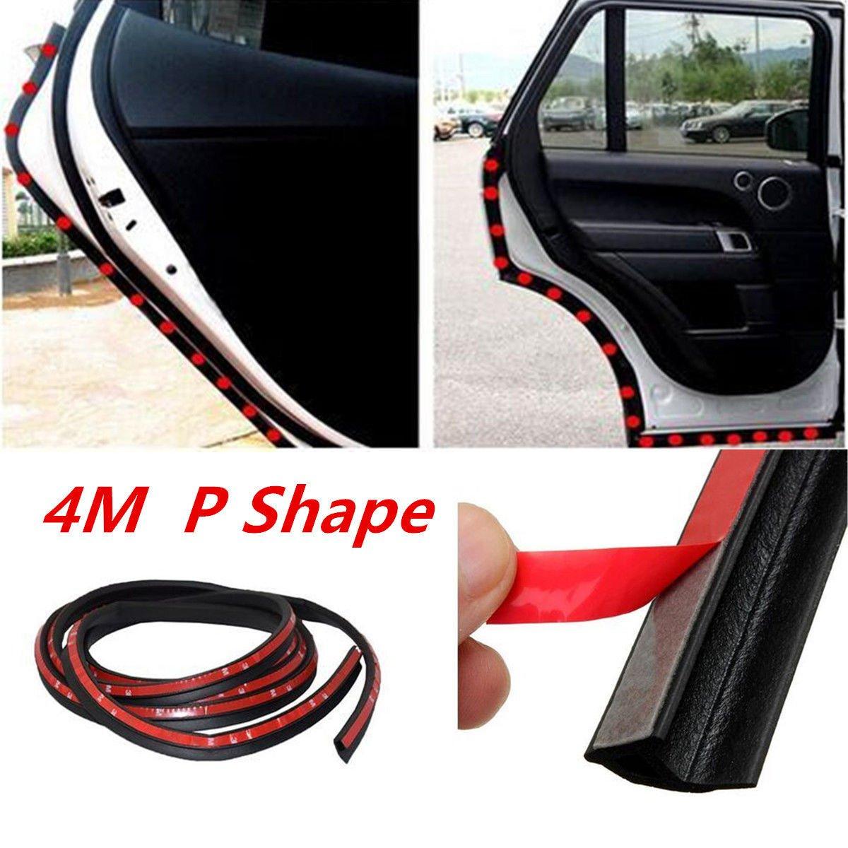 4m Rubber Car Door Seal Window Sound Insulation Strip Weatherstrip Edge Trim SL