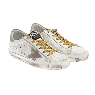 03cb835f5402 Golden Goose Superstar Sneakers Leather for Women Size 35 (4 US)  G30WS590.C14  Amazon.co.uk  Shoes   Bags