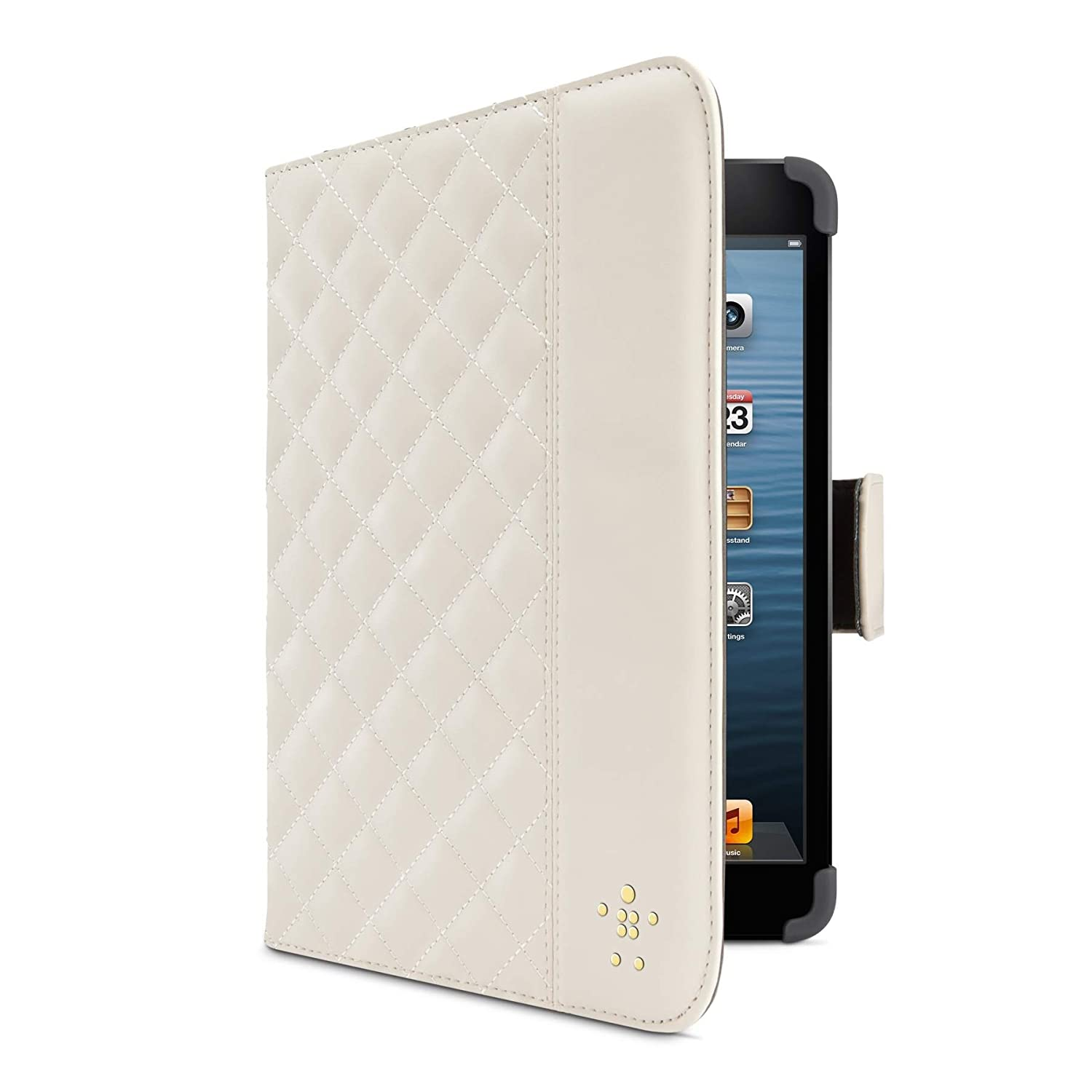Amazon.com: Belkin Quilted Cover with Stand for iPad mini (Cream ... : quilted ipad case - Adamdwight.com