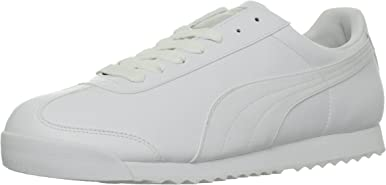 PUMA Men's Roma Basic Fashion Sneaker, White/Light Gray - 10 D(M) US