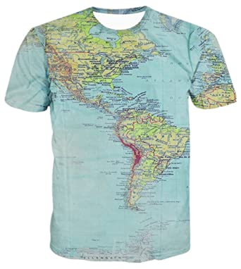 Chiclook cool 3d t shirt the world map printed streetwear casual chiclook cool 3d t shirt the world map printed streetwear casual swag t shirt gumiabroncs Gallery