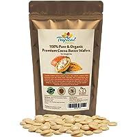 100% Natural Unrefined Raw Cocoa Butter Wafers 8 oz - Non-Deodorized, Organic Fair Trade Cacao Beans - Food Grade, Paleo…