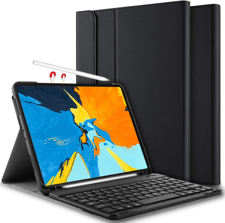 Yocktec Funda con Teclado para iPad Pro 11 2018 [QWERTY], Ultra-Delgado Desmontable Funda/Funda con Teclado Bluetooth para Apple iPad Pro 11 Pulgadas Tablet 2018 (Negro)