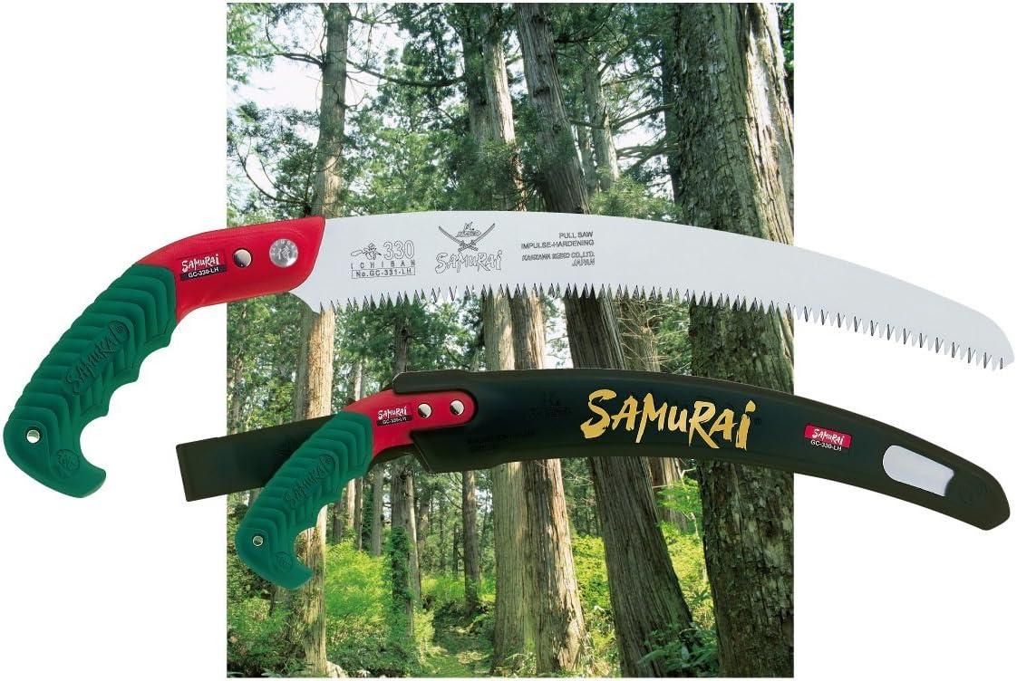 Samurai ICHIBAN GC-330-LH Fabriqué au Japon étui de transport incurvé Scie à main 33 cm