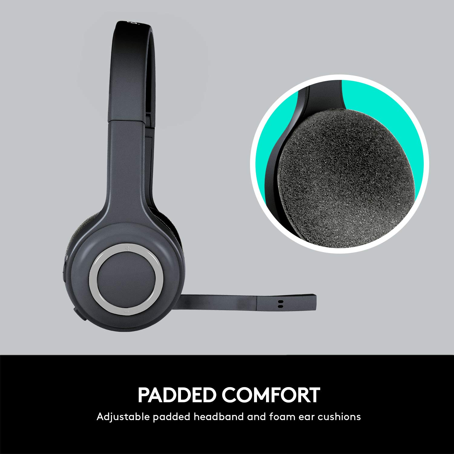 Amazon.in: Buy Logitech H600 Wireless Headset (Black, 981-000341) Online at Low Prices in India | Logitech Reviews & Ratings