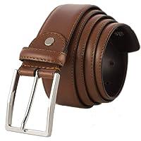 Zerimar Cinturón Hombre Piel | Cinturón con Cremallera Interior | Evite hurtos | Cinturón de Piel | Cinturón Cuero