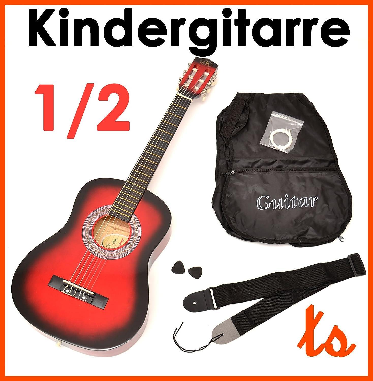 ts-ideen 5209 - Guitarra acústica infantil (tamaño 1/2, para 6-9 ...