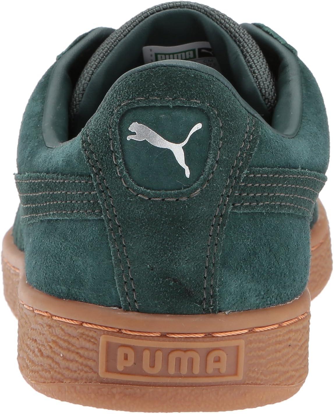 puma basket classic weatherproof trainers sunflower
