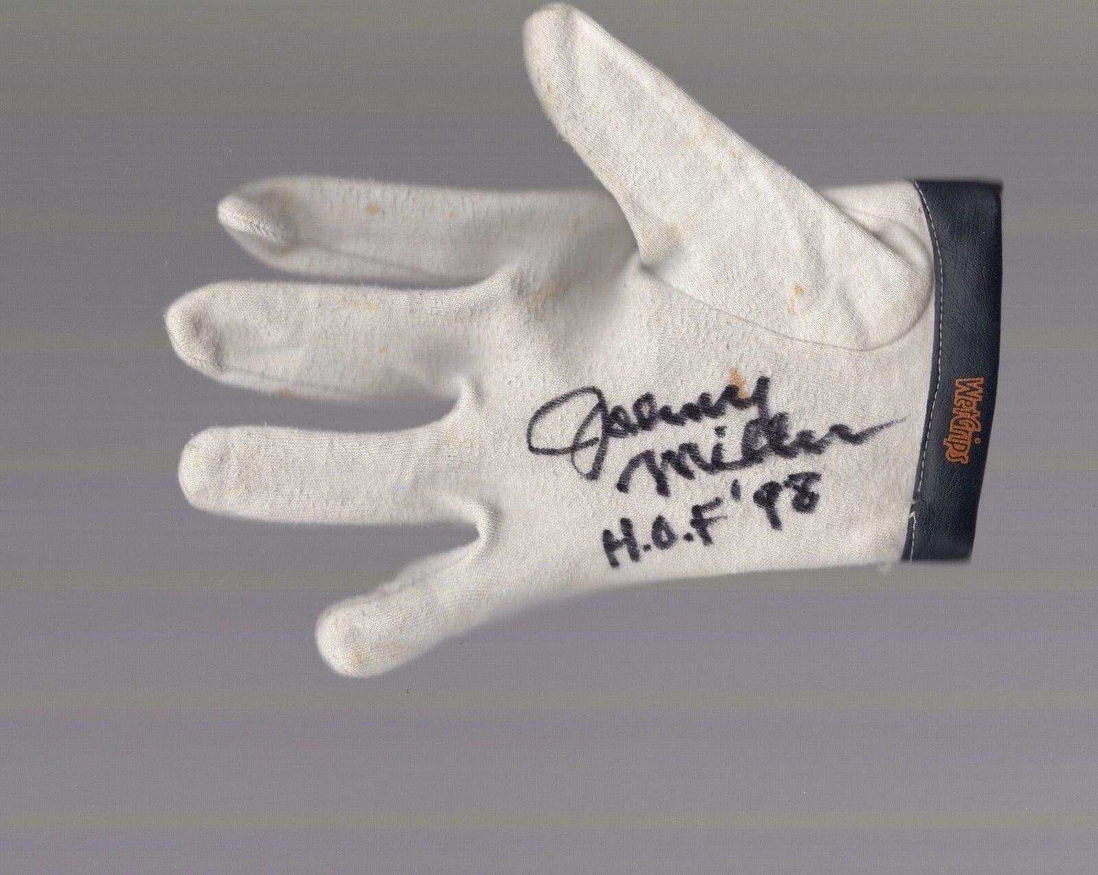 Johnny Miller Hand Signed And Used Golf Glove Hof Inscription JSA Certified Autographed Golf Gloves