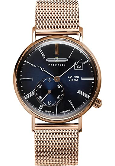 Zeppelin - Reloj de pulsera analógico para mujer cuarzo One Size, Azul, Rosé: Amazon.es: Relojes