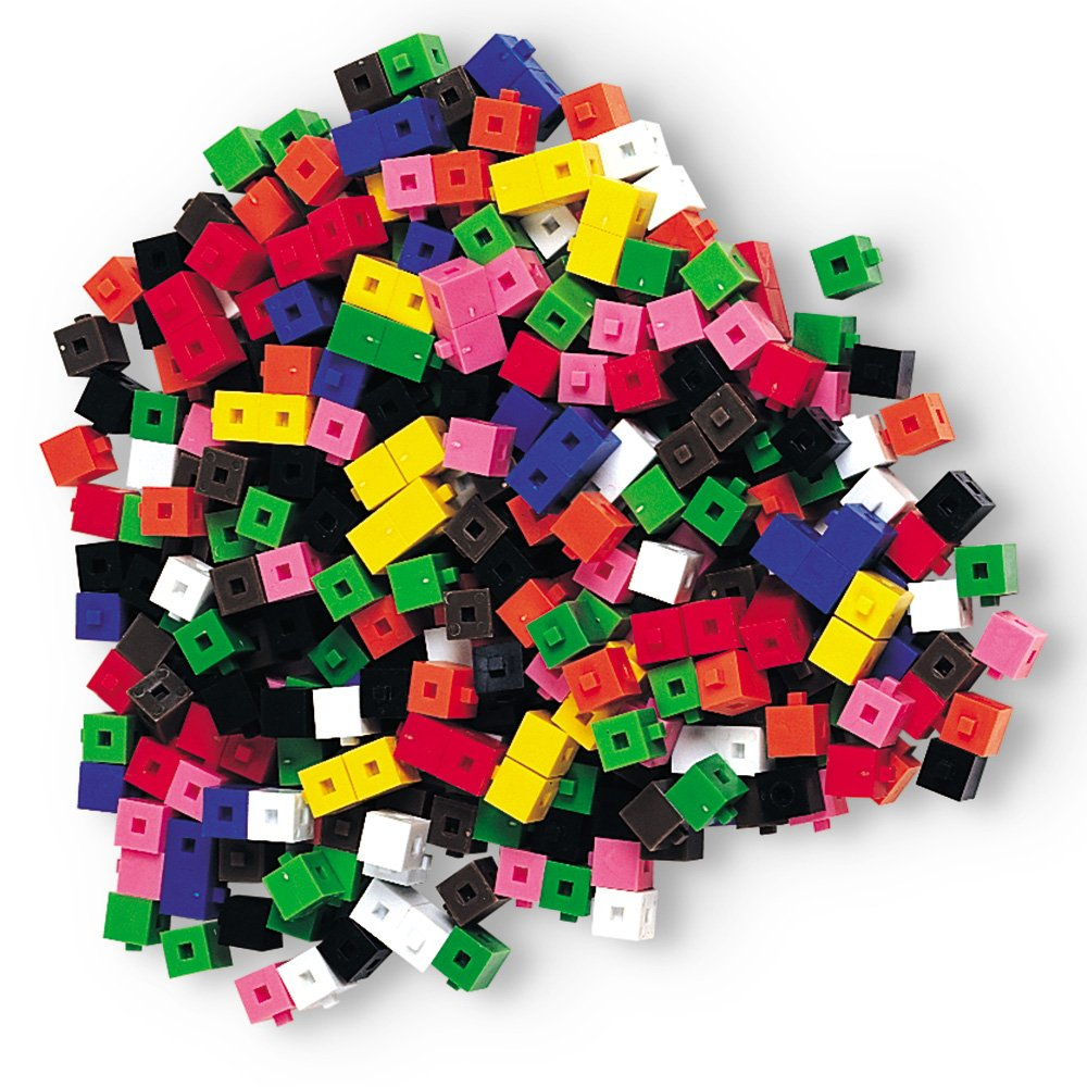 Learning Resources Interlocking Gram Unit Cubes, Set of 1,000, Ages 6+