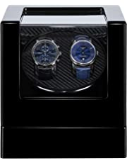 Kalawen Double Automatic Watch Winder, Mute Japanese Motor, Dual Watches Rotation Storage Case Display Box for Automatic Mechanical Watches