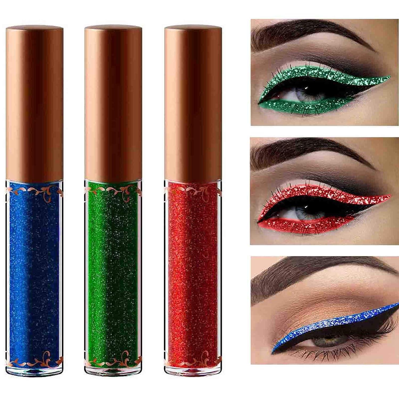 Eyret Diamond Glitter Liquid Eyeshadow High Pigments Shimmer Eyeliner Long Lasting & Blendable Eye Shadow Beauty Makeup for Women and Girls (Blue01#)