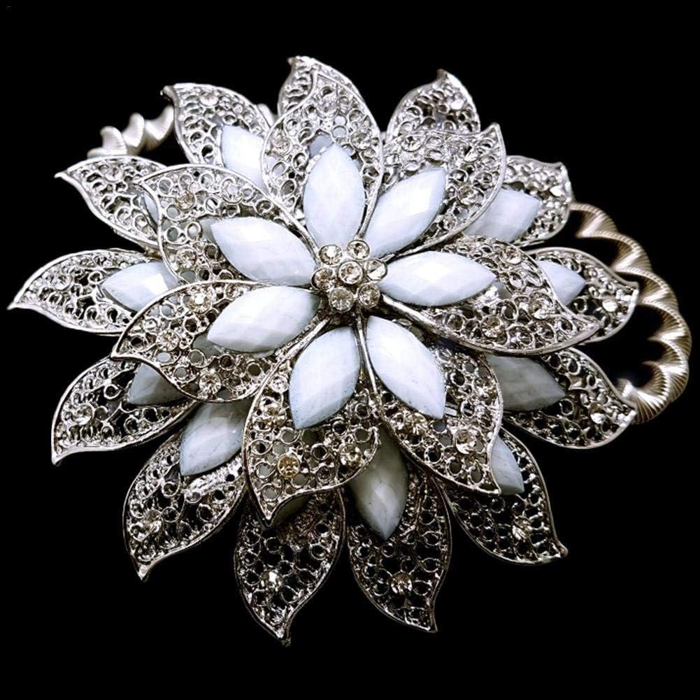 Tenda con calamita Posteriore Crystal Diamante Fiore Ferma Tenda Tieback /& Clip di Cristallo Tieback Gold Confezione da 1/pz