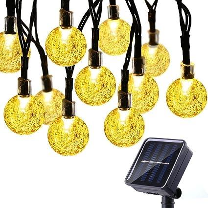 solar string lights lantern icicle solar string lightswaterproof 30 led crystal globe lights for outdoorindoor lights waterproof