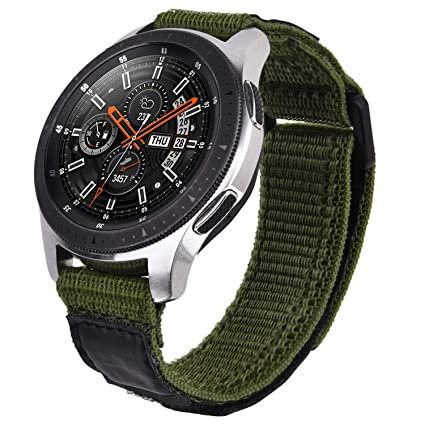 V-MORO Nylon Strap Compatible with Galaxy Watch 46mm Bands/Gear S3 Frontier Band Men 22mm Soft Breathable Woven Loop Replacement for Samsung Galaxy ...