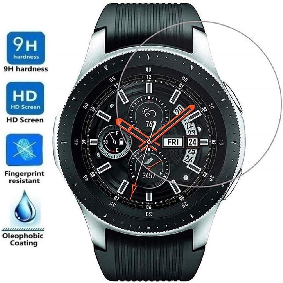 Protector de Pantalla para Samsung Galaxy Watch 46mm 2018, Cristal Vidrio Templado Premium