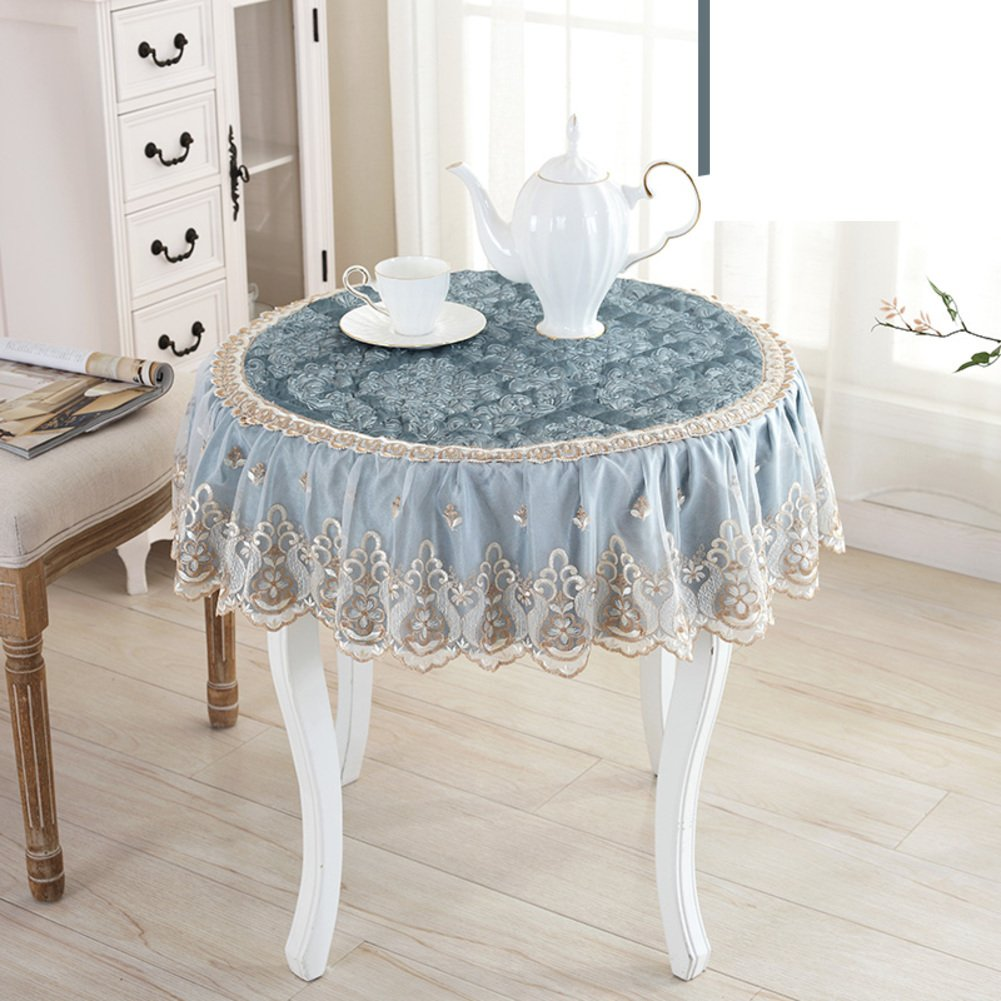 Round table cloth lace burn-proof oil-proof disposable tea table mats table cloth round tablecloth rectangle dining desk mats-A diameter160cm(63inch)
